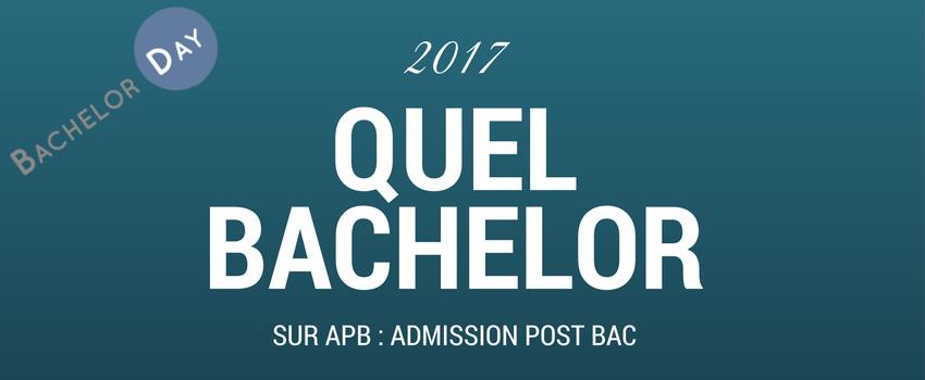 Quel Bachelor sur APB en 2017